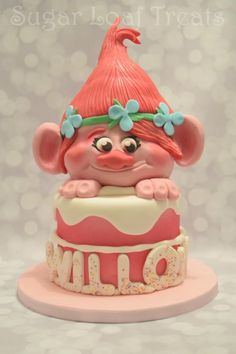 Poppy Troll Cake by SugarLoafTreats