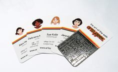 Our new business cards with spot-UV textured shininess! <3 Love!