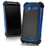 BoxWave Resolute OA3 HTC Sensation 4G Case - 3 in 1 Protective Hybrid Case Featuring 3 Ultra Durable Layers for Extreme Protection - HTC Sensation 4G Cases and Covers (Tenacious Blue) - BoxWave Resolute OA3 HTC Sensation 4G Case - 3 in 1 Protective H