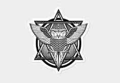 Znalezione obrazy dla zapytania owl in a triangle