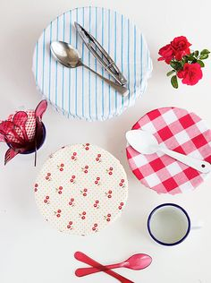 Quick DIY Fabric Bowl Covers