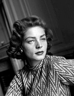 Lauren Bacall at the Savoy in London, 1951.