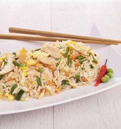 Arroz con carne de soja - Recetas Vegetarianas de China