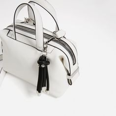 Image 4 of MINI BOWLING BAG WITH PENDANT from Zara