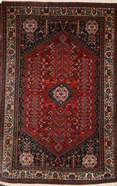 Persian Hand-Knotted Abadeh Rug in Wool (Cotton Foundation) - Ref: 1865 - 2.14m x 1.43m