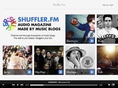 Se eu me interessasse por música, esta app gratuita aí, o Shuffler.fm, seria obrigatória no meu iPad.