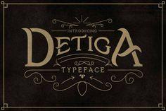 Detiga Typeface By Jiw Studio