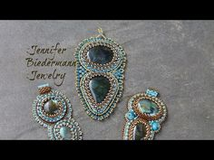 Bead embroidery labrarodite focal pendant tutorial - YouTube