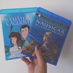On commence la collection   Le château de Cagliostro  Nausicaa de la vallée du vent Les deux de Hayao Miyazaki   #hayaomiyazaki #miyazaki #lechateaudecagliostro #nausicaadelavalleeduvent #bluray #happy by jenesaispointlire