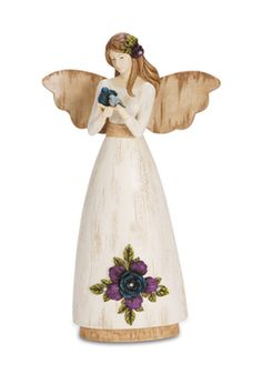 """A Mother's Love, 9"""" Angel Holding Birds - Simple Spirits - Pavilion Gift Company"""