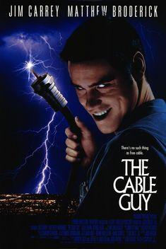 The Cable Guy (1997.)   Directed by Ben Stiller.   Stars Jim Carrey, Matthew Broderick & Leslie Mann.