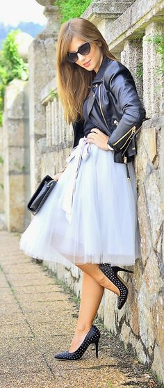Amore Tulle Skirt in Grey