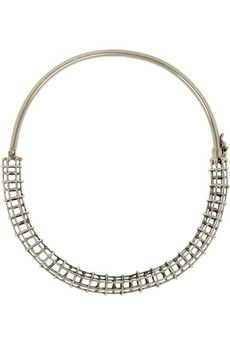 Anndra Neen Silver-tone caged tube choker | NET-A-PORTER
