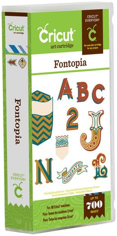 Fontopia Cricut Cartridge