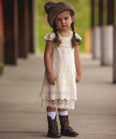 Look what I found on #zulily! Ivory Vintage Lace Grace Dress - Toddler & Girls #zulilyfinds