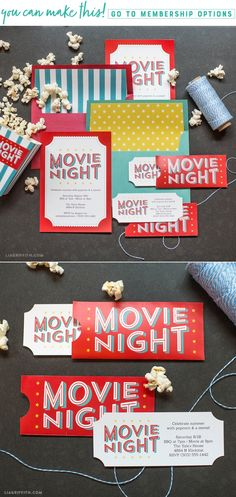 party Free Printable Invitations for Your Next Outdoor Movie Night! Backyard Movie Party, Outdoor Movie Party, Backyard Movie Nights, Outdoor Movie Nights, Kino Party, Birthday Party Invitations Free, Invitations Kids, Sleepover Invitations, Free Printable Invitations