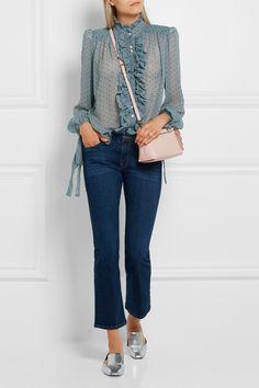 Fendi | By The Way mini appliquéd leather shoulder bag | NET-A-PORTER.COM