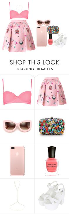"""so sweet"" by melanie-pacheco ❤ liked on Polyvore featuring Topshop, Mary Katrantzou, Wildfox, Santi and Deborah Lippmann"
