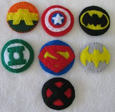 superhero hair clips- awesome etsy shop if you love supers
