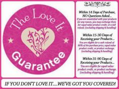 The Love it Guarantee. Younique Returns / Exchange Policy www.alwaysbegorgeous.com