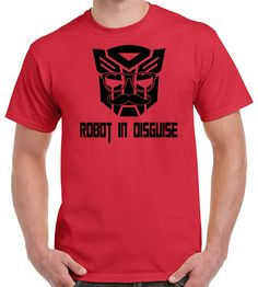 Transformers Tshirt - Optimus Prime - Robot in Disguise Shirt - Funny Tshirt Design - Autobot - Decepticon - Witty Gift Idea by TwistedMonkeyApparel on Etsy