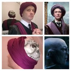 Professor Quirrell & Lord Voldemort! Fancy dress costume Harry Potter