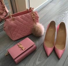 Louis Vuitton Bag bag, and chanel Louis Vuitton, Vuitton Bag, My Bags, Purses And Bags, Catty Noir, All Things Purple, Pink Love, Ideias Fashion, Christian Louboutin