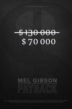 Payback (1999) ~ Minimal Movie Poster by Foursquare #amusementphile