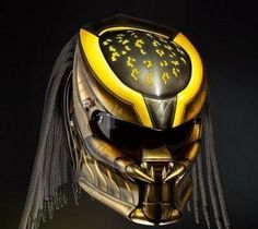 THE KING !!! ALIEN PREDATOR HELMET STREET FIGHETR STYLE DOT APPROVED #CELLOS #Predator
