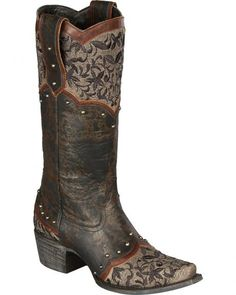 Lane Women's Kimmie Embroidered Cowgirl Boots - Snip Toe