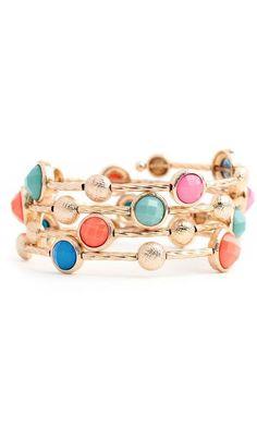Multi-Color Coil Bracelets ♥