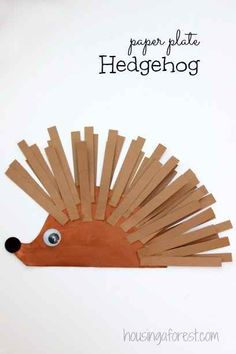 Make a Paper Plate Hedgehog | 25 Paper Plate Crafts Kids Can Make
