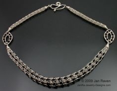 Woven Wire Jewelry and Other Creative Endeavors: Viking Knit Necklace with Woven Links