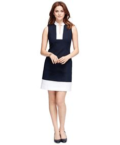 Shop designer women's dresses for any occasion. Find cocktail dresses, party dresses, evening dresses in everyday fashionable looks and styles. Colorblock Dress, V Neck Dress, Ladies Dress Design, Designer Dresses, Evening Dresses, Party Dress, Dresses For Work, Style Inspiration, Brooks Brothers