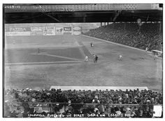 The very first game (an exhibition game) at Ebbets Field. April 5, 1913.