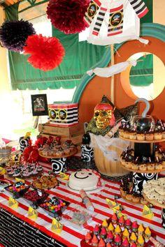 Ideas increíbles para tu fiesta de piratas!! siguenos en Facebook P+I DECO