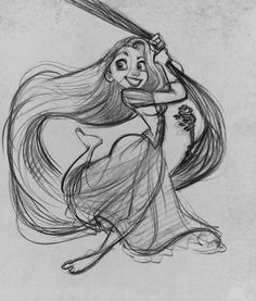 Glen Keane is my new favorite illustrator purely because of his work with disney and he is the talent behind the little mermaid and tangled coming to life. Disney Sketches, Disney Drawings, Art Sketches, Art Drawings, Disney Character Sketches, Drawing Disney, Disney Characters, Disney Kunst, Disney Art