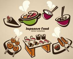 cartoon handpainted food