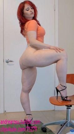 Andrea sexy milky White body.