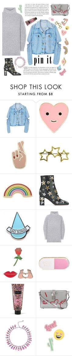 """Pin It! #1"" by fabulusvogue ❤ liked on Polyvore featuring ban.do, Georgia Perry, Tiffany & Co., Valentino, Stay Home Club, Acne Studios, iDecoz, Victoria's Secret, Dolce&Gabbana and Red Camel"