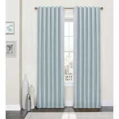 Gracie Oaks Burnet Striped Blackout Thermal Rod Pocket Single Curtain Panel Size W X L Color Spa