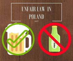 Promoting cider in Poland is prohibited. Sounds stupid but it is true. Stupid, Poland, Advertising, Alcohol, Rubbing Alcohol, Liquor