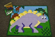 Dinosaur Toddler Quilt Pattern  in multiple sizes- PDF. $8.00, via Etsy.