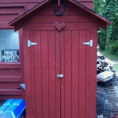 Red tool shed. Tool Sheds, Raven, Outdoor Structures, Shed Houses, Ravens, Crows, The Crow