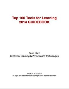 Have you taken a look at the new tools on the  Top 100 Tools for Learning 2014 list?