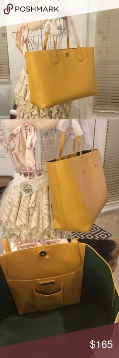 b6e3f7ac929c Tote Tory Burch Brody tote. Beautiful solarium selva leather. Magnetic snap  closure. PRICE IS FIRM