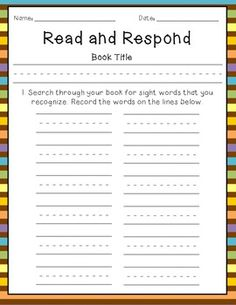 Read & Respond- A Guided Reading