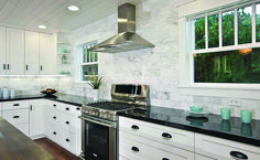 Leading white granite countertops backsplash just on homeeideas.com