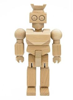 These natural wood toys come in the shape of a robot and 2 types of dinosaurs. These are flexible and fun to play with.