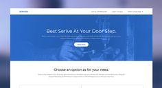Servizo - Service app website